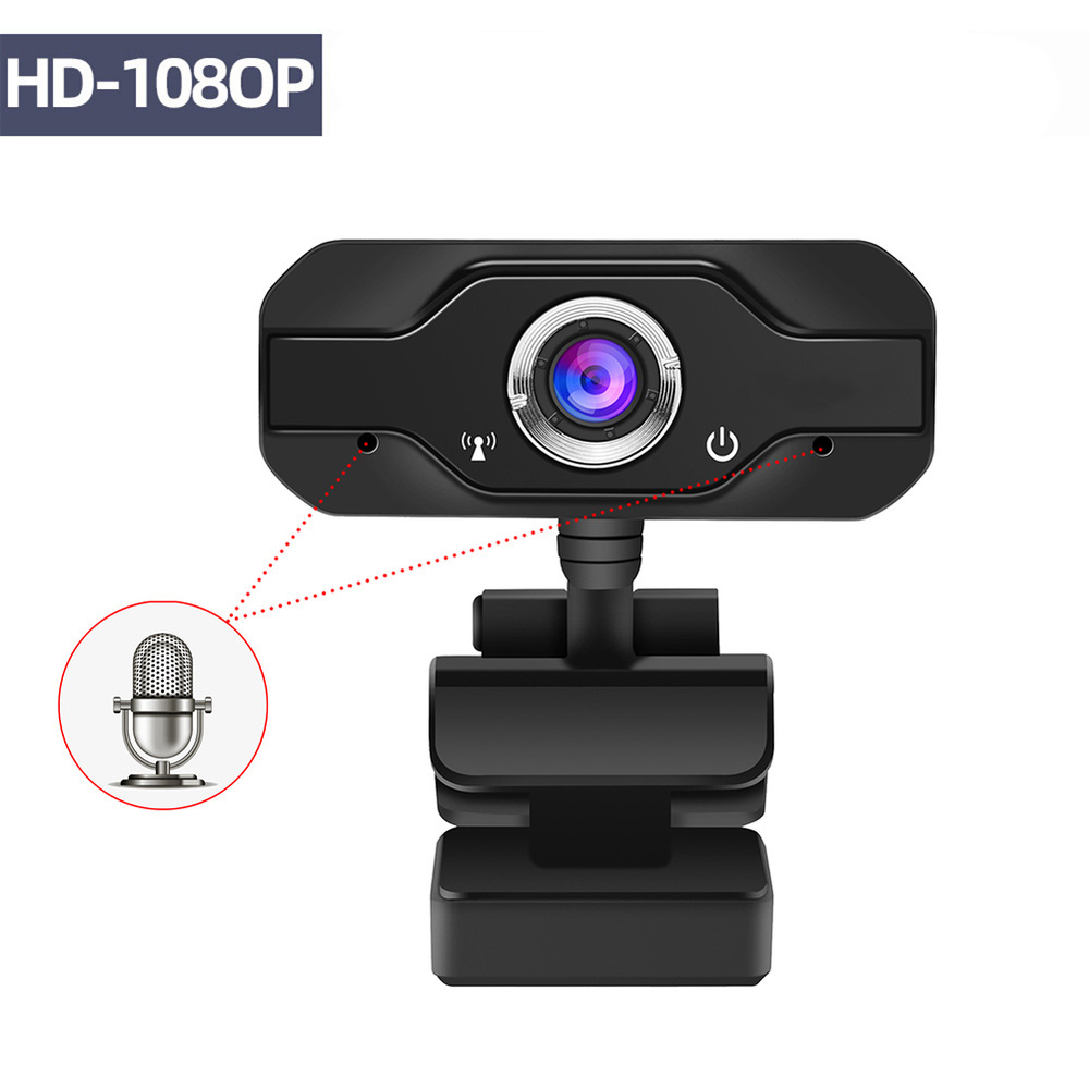 HD Webcam Built-in Dual Mics Smart 1080P Web Camera USB Pro Stream Camera for Desktop Laptops PC Game Cam For OS Windows10/8 image