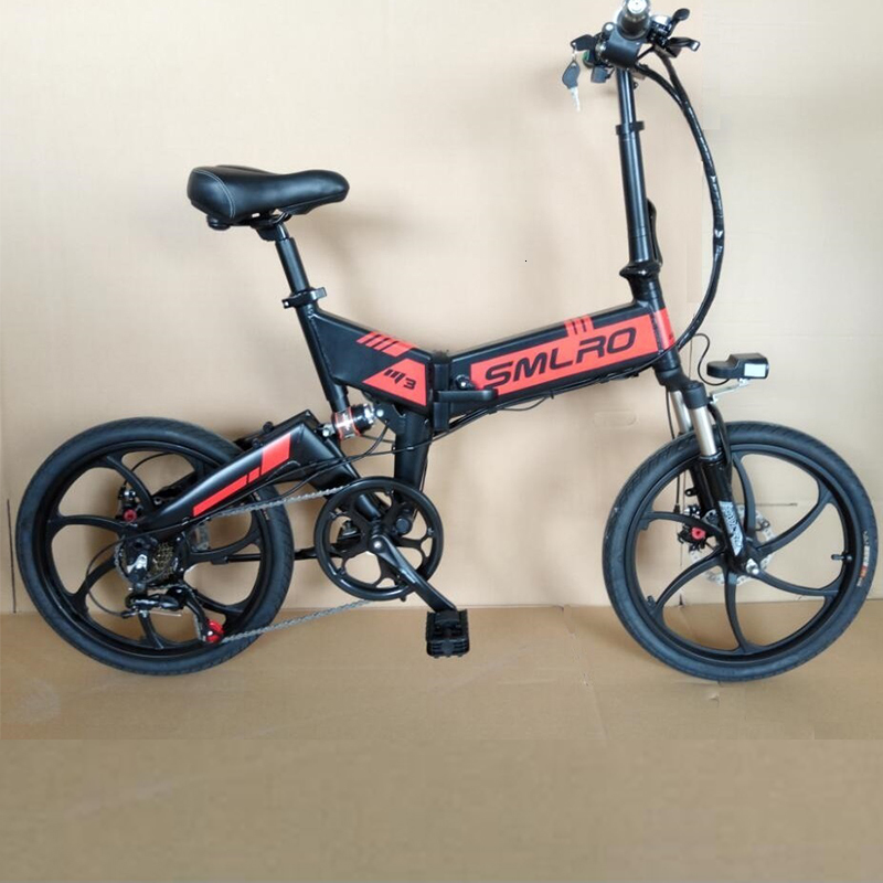 (7-speed) M3 20 Inch Foldable E Bike Mountain Electric Bicycle Sport 48V 350W for Adult 1
