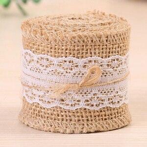 2 м/рулон 2,5-6 см натуральное джутовое кружево лента с кружевом для рустикальной упаковки подарков Свадебные украшения