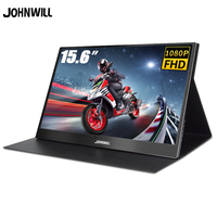 """Portable Monitor 15.6"""" LED USB Type C Hdmi gaming monitor ips 1080p HD display for PS4 Laptop Phone Xbox Switch Pc with Case"""