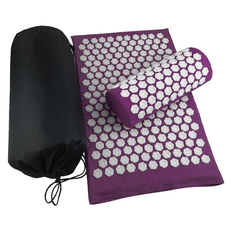 Lotus Acupuncture Massage Pads Relief Body Stress Pain Tension Acupressure Cushion Yoga Mat Acupuncture Cushion Relax Body