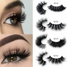 1Pair 3D Mink Hair False Eyelashes Natural Thick Long Eye Lashes Wispy Makeup Beauty Extension Tools For