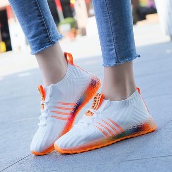 2019 Fahion Zapatillas de deporte para mujer Chunky Jelly Shoes Plataforma para mujer con cordones Negro Beige Off White Zapatillas de tenis Casual Dad Shoe 1