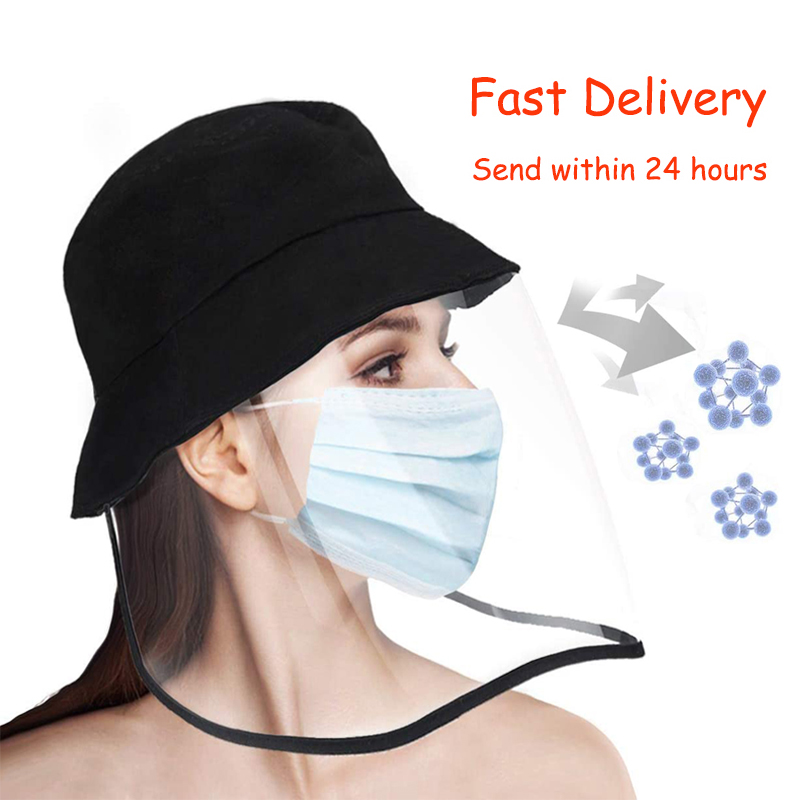 Reusable Safety Face Shields For Women Adjustable Full Face Shield Anti-Spitting Hat Mask Visor Protection From Splash Splatter