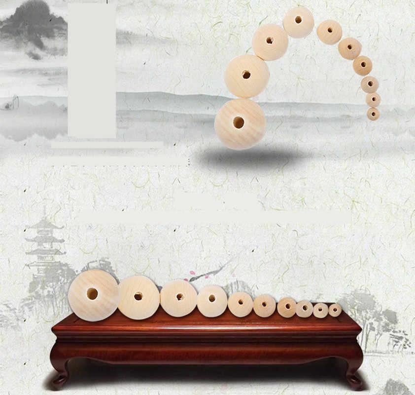 FAI DA TE 4/6/8 millimetri di Moda A Buon Mercato Perline Calda Naturale Allentati Rotondi Perline di Legno per la Produzione di Gioielli Braccialetto collana Accessori