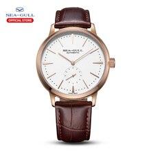 Seagullธุรกิจนาฬิกาผู้ชายนาฬิกาข้อมือ50Mกันน้ำหนังValentineชายนาฬิกา819.22.6075