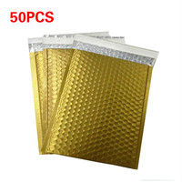 50pc Packaging Shipping Bubble Mailers gold paper Padded Envelopes Bag Bubble Mailing Envelope Bag Gift Wrapping Storage 15*13cm