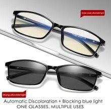 Blue Light Filter Computer Glasses TR90 For Blocking UV Anti Eye Eyestrain Transition Photochromic Gaming Glasses Women Men