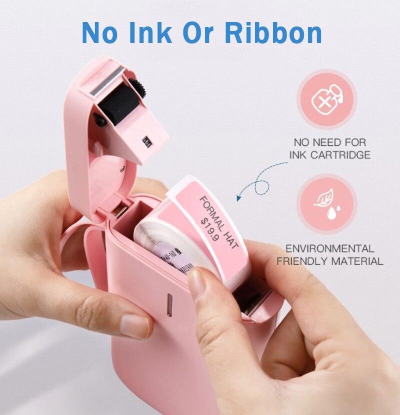 Nimbot d11 impressora de etiquetas sem fio