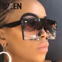 Oversized Square Black Sunglasses Women Luxury Brand Designe