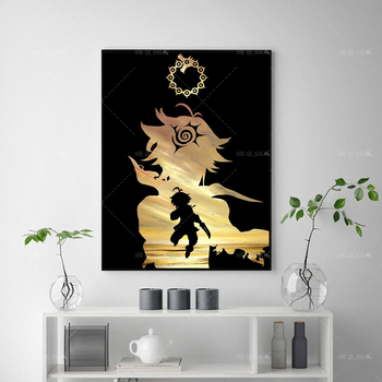 HD Print Home Decor Modular Hot Anime Poster Seven Deadly Sins Picture Modern Wall Art Canvas Painting For Living Room Framework