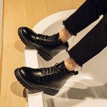 2020 neue Stiefel männer Winter Ankle Koreanische Version Student Alle-spiel Mid-Top Stiefel Männer Wasserdichte Hight-Top Leder Schuhe Für Mann