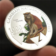 Animal Challenge Coin Red Monkey Silver Plated Commemorative Coins Gift for Collection Bedge Drop Shipping