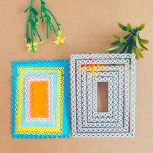 5 peças de armação de metal para o cartão que faz scrapbooking de fotos estêncil decoração nova