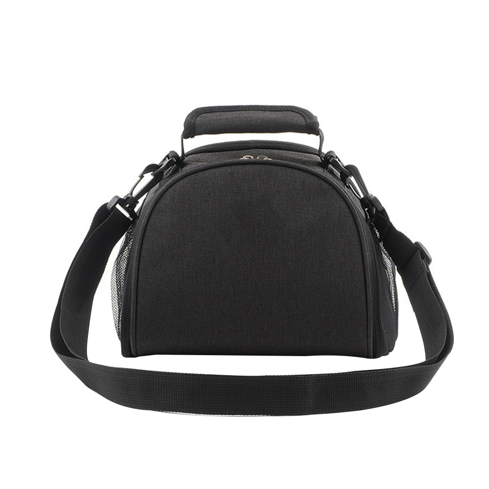 Lunch Bag Thermal Wear Resistant School Storage Waterproof Shoulder Adjustable Strap Carry Fashion Solid Zipper Oxford Cloth
