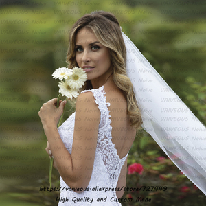 Image 2 - robe mariage Court Train Wedding Gown Vestido de Noiva 2020 Bride Dress Sexy Lace Mermaid Wedding Dress Vestido De Noiva Sereia