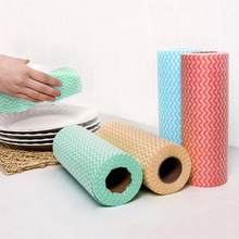 1 Roll Eco-Friendly Cleaning Wash Cloth Non Duster Cloth Dish Cloth Break Point No Oil Rag Kitchen Towels Wiping Souring Pad(China)