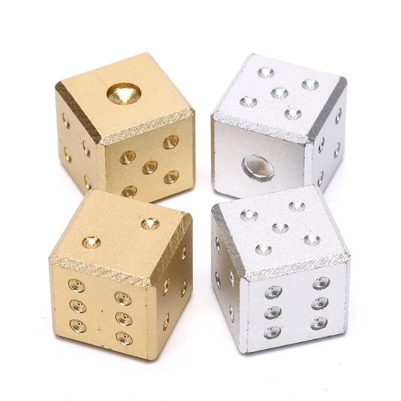 16 мм Металлические кости золото/серебро чистый цвет Алюминиевый клуб бар питьевой игровой инструмент