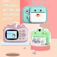 Детская камера Мгновенной Печати с нулевыми чернилами, Детская цифровая камера с печатной бумагой, видеорегистратор 32 ГБ для подарка на ден...