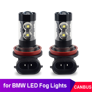 2x Canbus H9 H8 H11 LED Fog Light Bulb Car DRL Lamp For BMW E46 E90 E60 E39 E87 X5 E53 E70 E36 X3 E83 E34 E92 E38 F30 F10 F20 M image