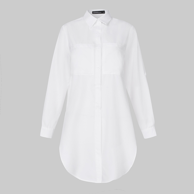 11 Colors Celmia Elegant White Long Sleeve Blouse Women Shirts Office Ladies Work Wear Turn Down Collar Womens Tops And Blouses