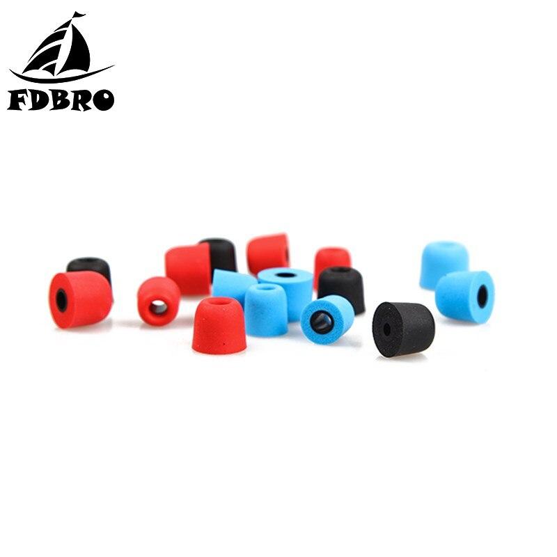 FDBRO New 1Pair/2pcs T400 Noise Isolating Memory Foam Earphone Tips Sponge Ear Pads Eartips For In Ear Earbud Headset Headphones