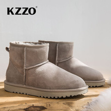 Snow-Boots Australia Cowhide Genuine-Leather Women Classic Wool Upper-Ankle-Winter High-Quality