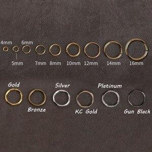 4, 5, 6, 7, 8, 10, 12, 14, 16 мм, золото, серебро, петля, Открытое кольцо, разделенные кольца, соединители для ювелирных изделий, фурнитура, оптовые поставки