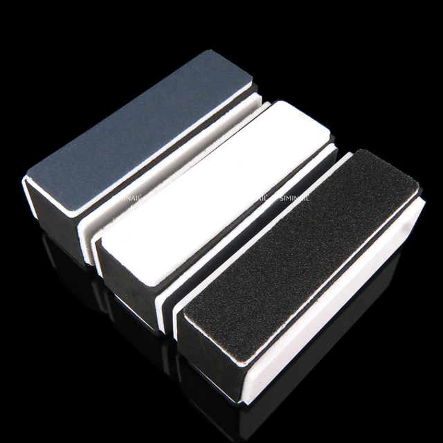1pcs Nail Block Buffers File Pedicure Sanding Sponge Nail Art Care Tools Polishing Nails Grinding Strips Colorful Manicure 1