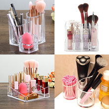 Acrylic Cosmetic Brush Storage Box Table Makeup Orgainzer for Lipstick/Eyebrow Pencil Holder Nail Polish Organizer Display Rack(China)