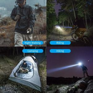 Image 5 - WUBEN L60 LED Zoomable Flashlight USB Rechargeable Torch 1200 Lumens 18650 Battery IP68 Waterproof LED 5 Lighting Modes for Camp