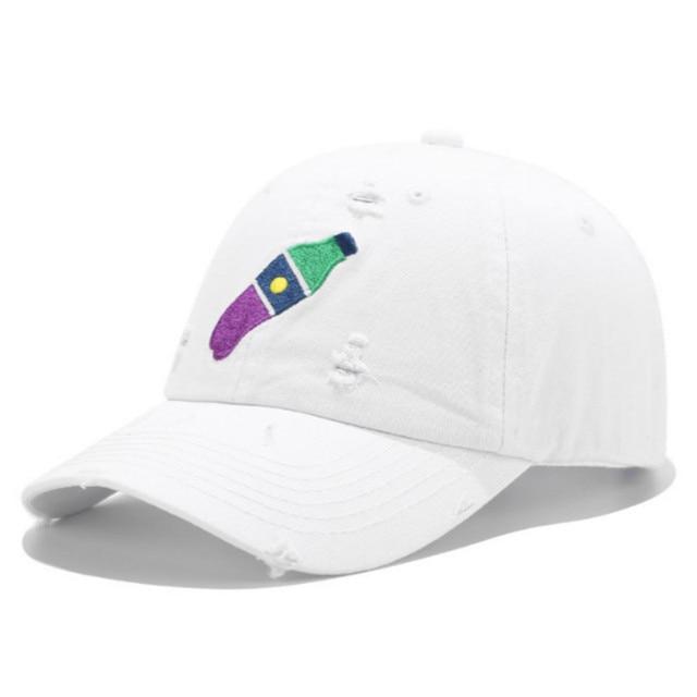 Coke Bottle Baseball Cap Hip Hop Distress Hole Henny Snapback Men Cap Cotton Women Golf Trucker Hat Streetwear Kpop Cap