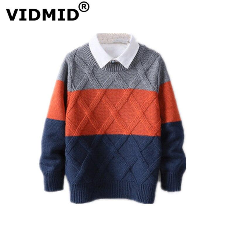 Vidmid bebê meninos meninas camisola outono inverno roupas de algodão crianças manga longa malha roupas casaco sweates 7088 06