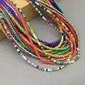 Ожерелье из простых бусин на нитке, женское короткое ожерелье-чокер из бисера, ювелирное изделие, 16 дюймов, чокеры, ожерелье в подарок