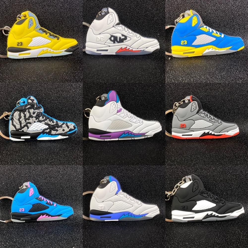 Mini Jordan 3 Retro Shoes Accessories Shoes Iron Alloy Keychain Basketball Sneak Super Smash Bros Gifts In Honor Of Kobe Bryant