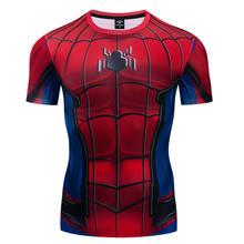 Summer Men's Compressed Shirt Short Sleeve Comics Cosplay Costume Cloth Top T-shirt 2021 New Raglan 3D Printing T-shirt