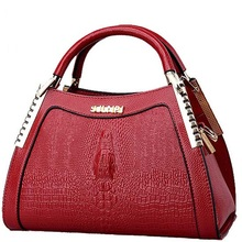 Womens handbags women luxury leather messenger bag ladies crocodile pattern shoulder crossbody