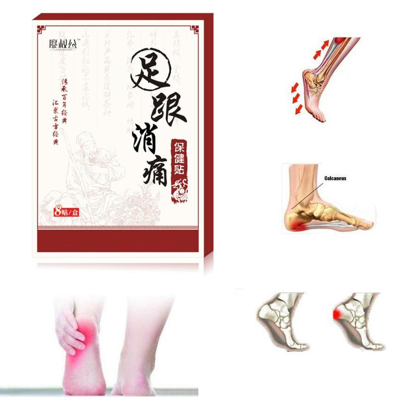 8pcs Herbal Heel Pain Plaster Pain Relief Patch Herbal Bone Spurs Achilles Tendonitis Patchsticker Foot Care Treatment Patches