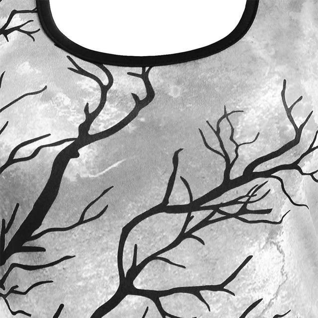 OTEN Women 2020 Halloween Sexy Mini Dresses Crew Neck Backless Spaghetti Strap Casual Printed Sleeveless High and Low Dressess 3