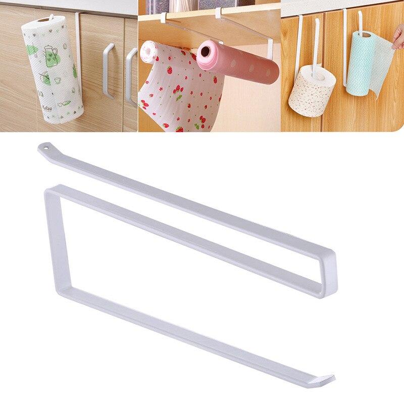1 шт. Железный кухонный тканевый крючок, подвесной держатель рулона туалетной бумаги для ванной комнаты, вешалка для полотенец, держатель для двери кухонного шкафа