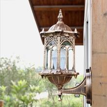 Aluminium Wall Lamp Garden Lantern Sconce E27 Outdoor Waterproof light Exterior Fixture lampu dinding antik Glass Shadelighting
