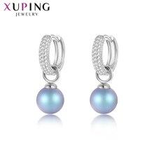Xuping takı moda küpe klasik Swarovski kristalleri lüks kadınlar için zarif sevgililer günü hediyesi M85 20436