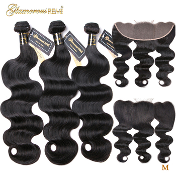 Brazilian Body Wave 3 Bundles With Frontal Human Hair Bundles Weave 13x4 Lace Frontal With Bundles Middle Ratio Remy Hair 1B ombre human hair blonde 3 bundles with frontal t1b 4 27 remy brazilian hair weave body wave bundles with frontal alimice