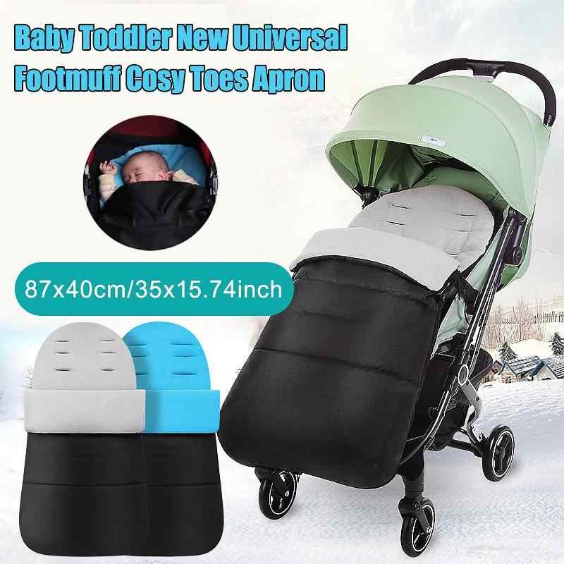 รถเข็นเด็กทารก Footmuff COZY หนาสำหรับทารกแรกเกิดรถเข็นเด็กทารก Sleeping กระเป๋า Muff ทารก Windproof ฤดูหนาวเท้าเด็ก