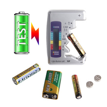 Digital Battery Tester 9V Mini Battery Analyzer 1.55V Button Cell Battery Capacity Checker for C,AA,AAA,D, Faster Testing