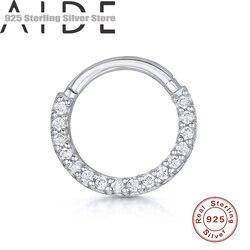 Aide 925 prata esterlina argola helix cartilagem brinco daith snug rook tragus anel orelha piercing jóias festa de casamento para mulher