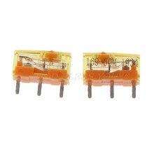 2pc ttc dustproof ouro mouse micro interruptor botão contator ouro 30 milhões de transporte da gota