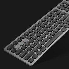 Беспроводная металлическая клавиатура 2,4 ГГц и BT, алюминиевая, полноразмерная, 110 клавиш, 3 устройства работают синхронно, дизайнерская эргономичная клавиатура