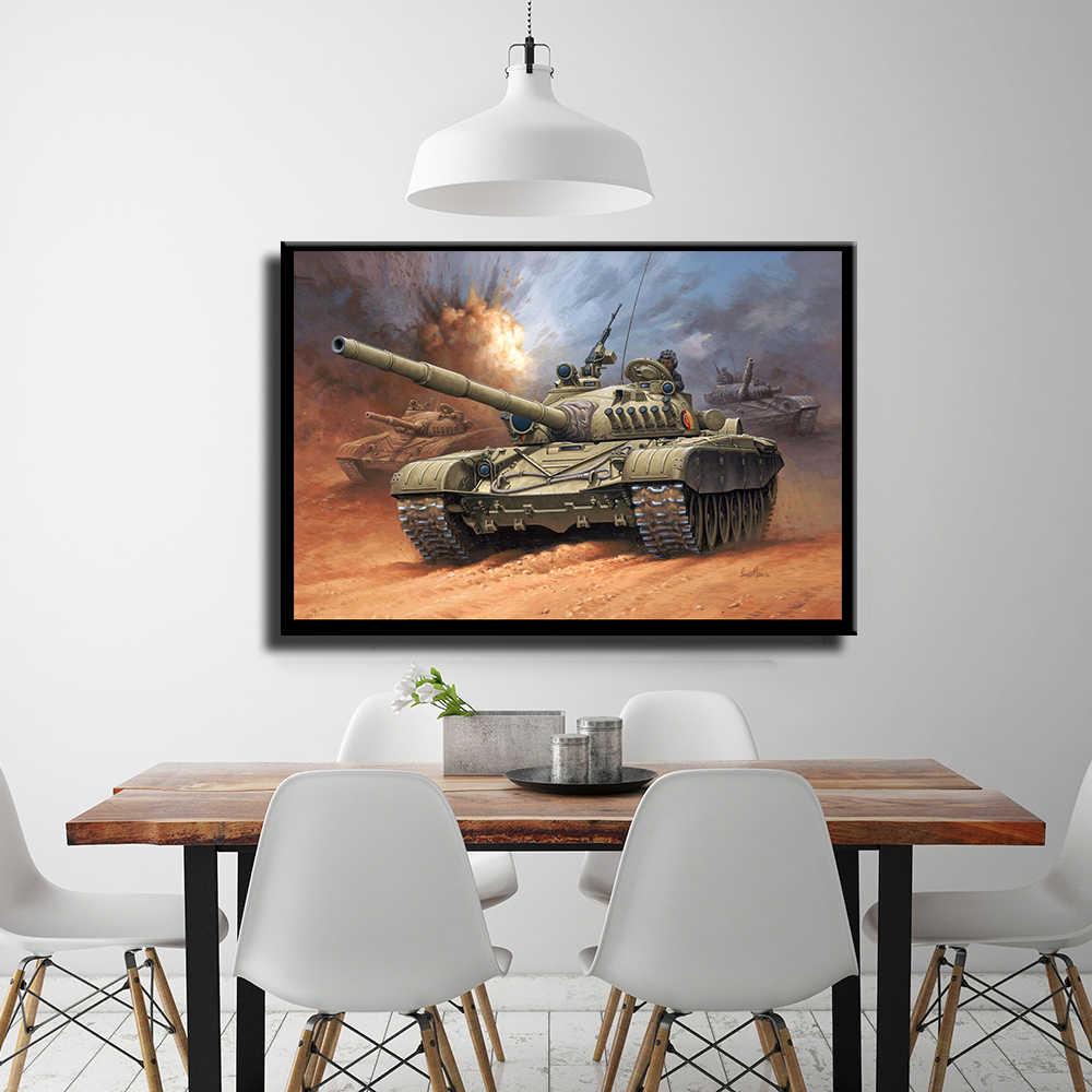 Welt Berühmte Zweiten Weltkrieg 59 Tanks Poster Dekorative Leinwand Malerei
