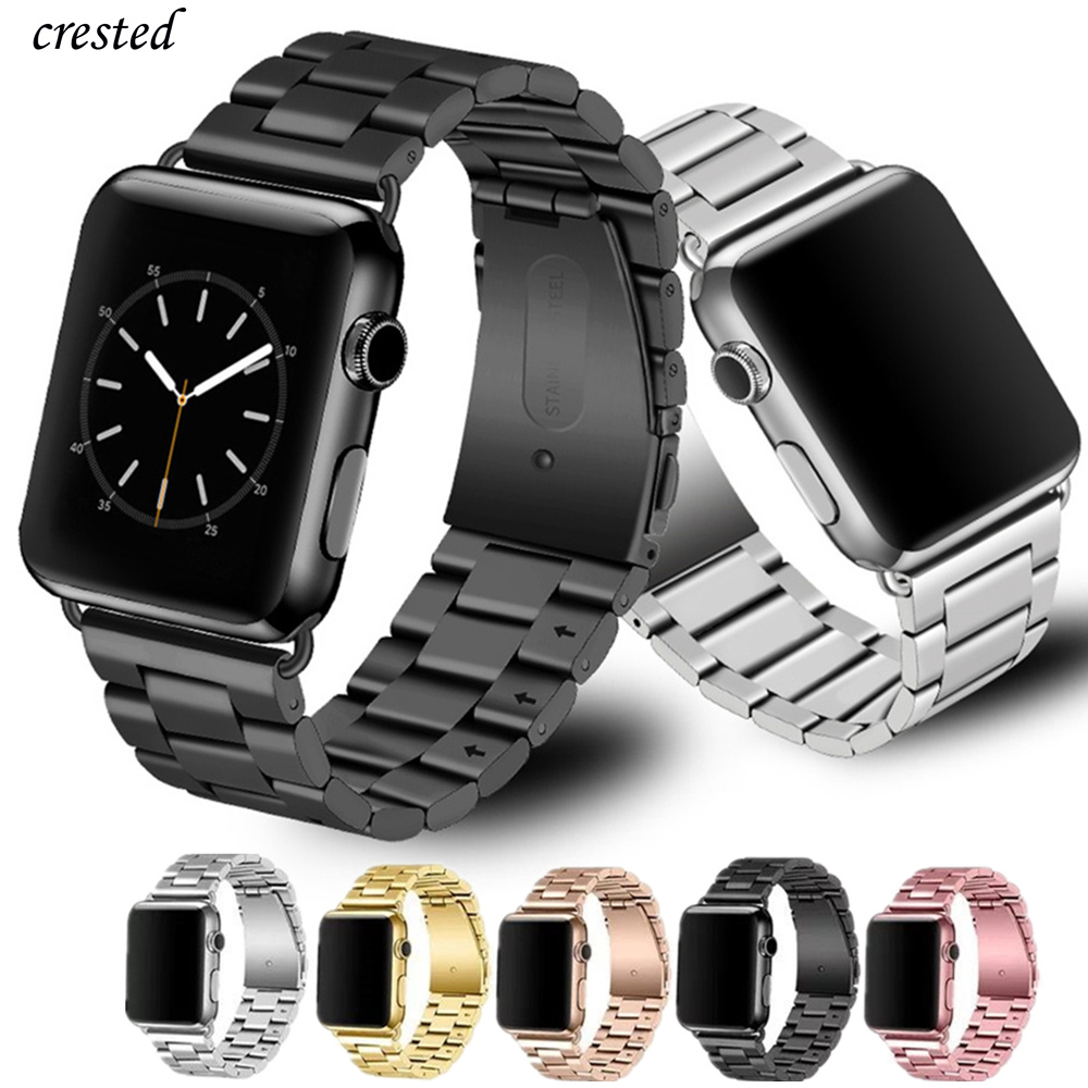Stainless Steel Strap for Apple watch band 42mm 38mm iWatch Accessories Metal bracelet Apple watch Series 5 4 3 SE 6 40mm 44mm(China)